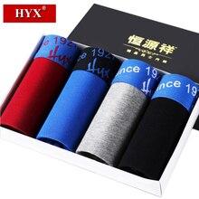 HYX calecon homme men boxer underwear cuecas boxer calvin gay underwear brands boxer homme gift box 4colors cotton panties