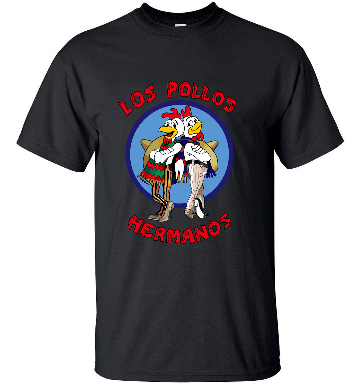 2019 Breaking Bad LOS POLLOS Hermanos hombres camiseta divertida LOS POLLOS Hermanos streetwear hombres camisetas Tops ropa Hipster de marca