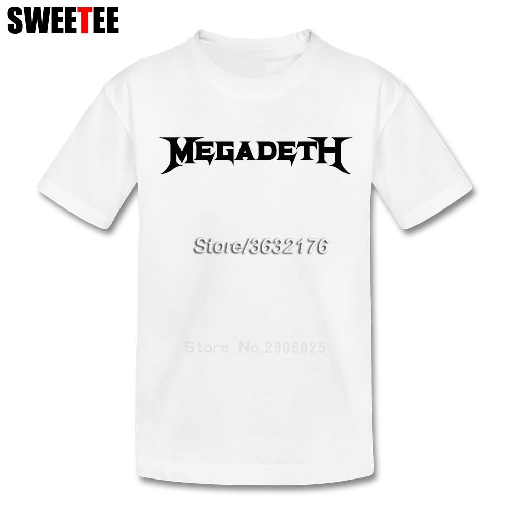 childrens T Shirt Megadeth Cotton Short Sleeve Crew Neck Thrash Metal Tshirt Teeshirt Boys Girls 2018 Latest T-shirt For Kids