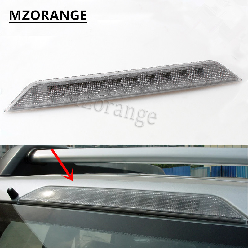 MZORANGE for Nissan X-trail T31 Xtrail 2008 2009 2010 2011 2012 2013 Car High Positioned mount Rear Third Brake light stop lamp 6pcs set car accessories matt abs front air vent frame cover trim for nissan xtrail x trail 2008 2009 2010 2011 2012 2013