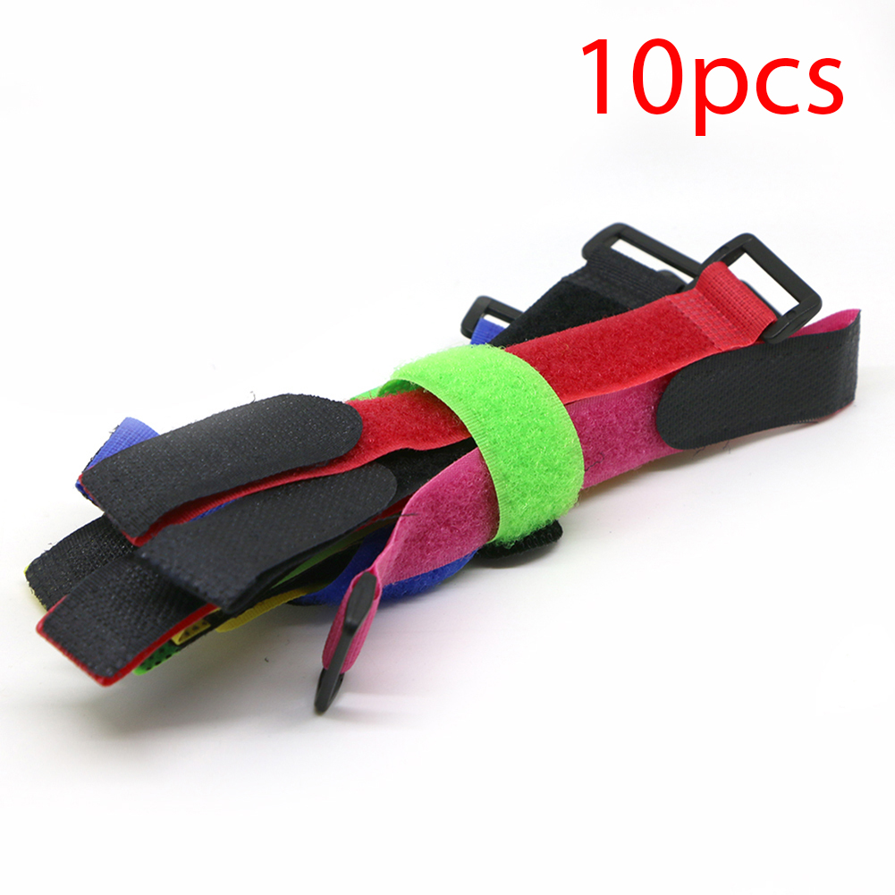 10x Reusable Cable Tie Nylon Fastener Hook Loop Strap Cord Ties Organizer 200mm new magic sticker strap nylon lipo battery tie strap fastener reusable cable wrap 10pcs bag for qav250 f450 500 550 quadcopter