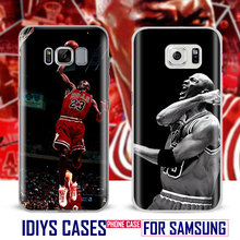 Michael Jordan MJ For Samsung Galaxy S4 S5 S6 S7 Edge S8 Plus Note 8 2 3 4 5 A5 A710 J5 J7 2017 Phone Case Shell Cover Bag