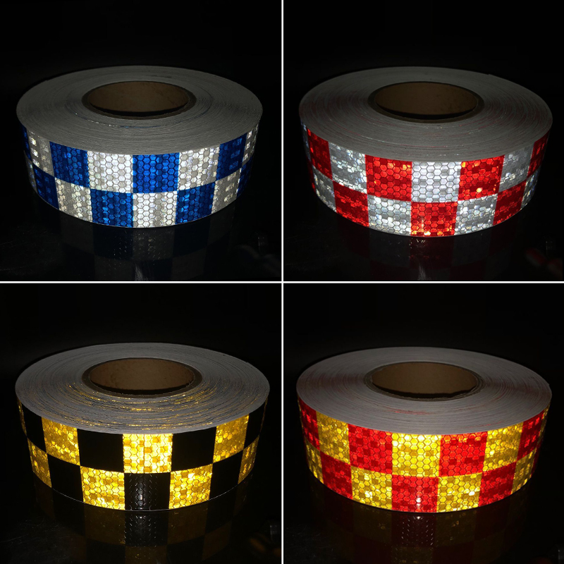 5cmx10m Square Self-Adhesive Reflective Warning Tape For Body Signs