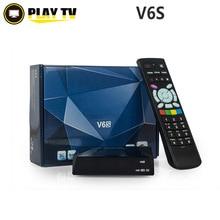 Original V6S Mini receptor de satélite Digital con salida AV HDMI 2 xUSB WEB TV Wifi USB 3 G Biss llave CCCAMD NEWCAMD MGCAMD