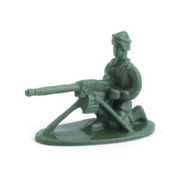 OCDAY 100pcs/Pack Military Plastic Action Figure Toy Soldiers Army Action Figures 12 Poses Toys Collection Good for Intelli фото