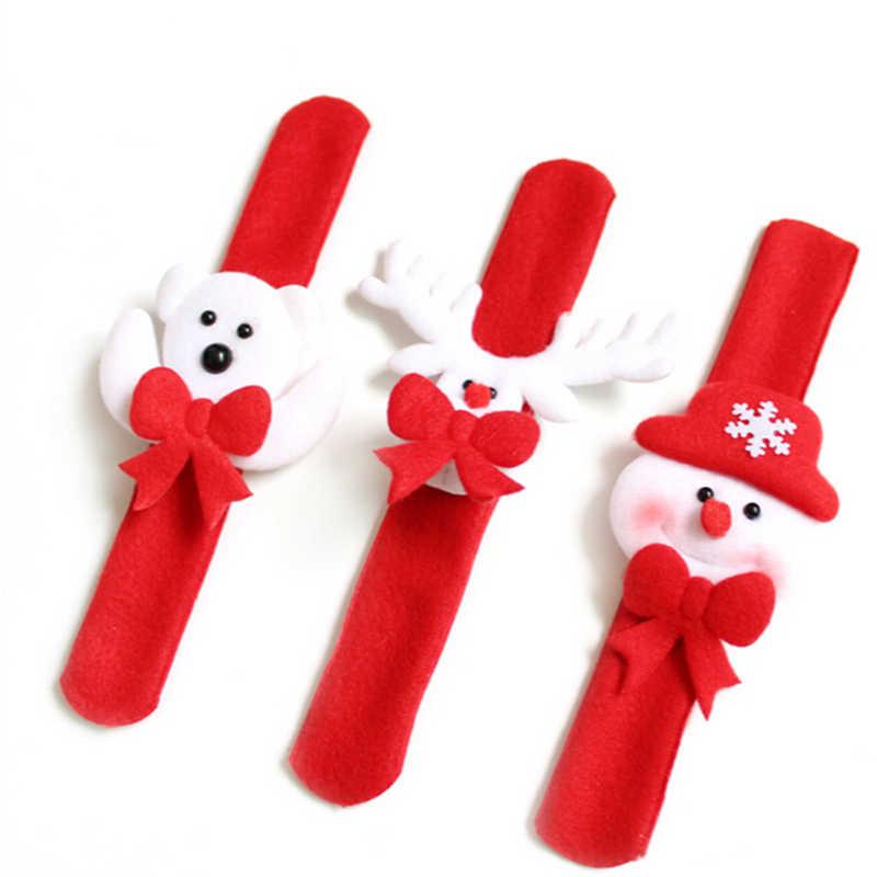 1PC Santa Claus Slap Circle Bracelet Xmas Gift New Year Party Toys christmas decorations for home  Christmas Party Decoration