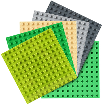 12x12 Dots Base Plates Road Baseplate Board Animals Figures Compatible DIY Building Blocks Sets Toys for Children