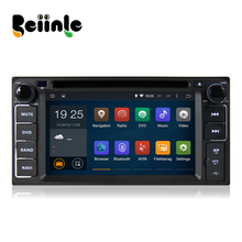 Beiinle Car 2 Din Android Quad Core 800*480 16G DVD GPS Radio Navigation Video Player for Toyota Universal