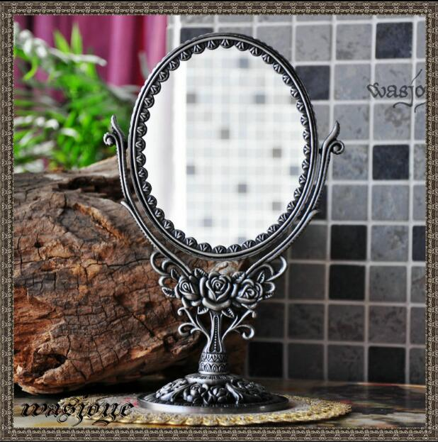 Double Face With 360 Degree Rotating Home Decoration Makeup Mirror Frame Decorative  Table Mirrors Wedding Decorative J001S In Decorative Mirrors From Home ...