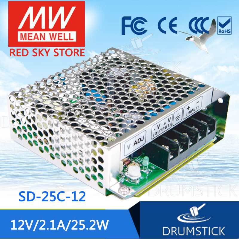 цена на Genuine MEAN WELL SD-25C-12 12V 2.1A meanwell SD-25 12V 25.2W Single Output DC-DC Converter