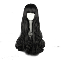 Your Style 4 Colors Long Wavy Anime Cospaly Wigs Party Costume Black Brown Yellow Synthetic Fake