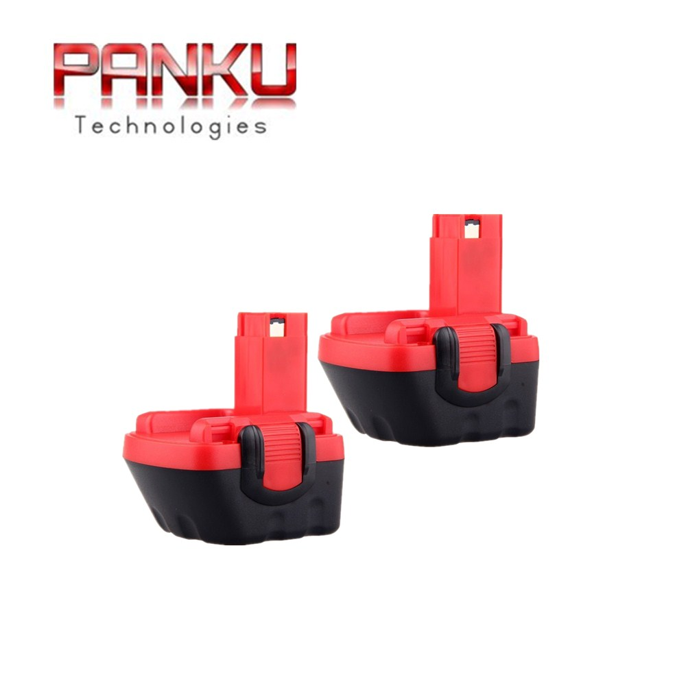 2 X Panku 12v 2 0ah Replacement Battery For Bosch Psb