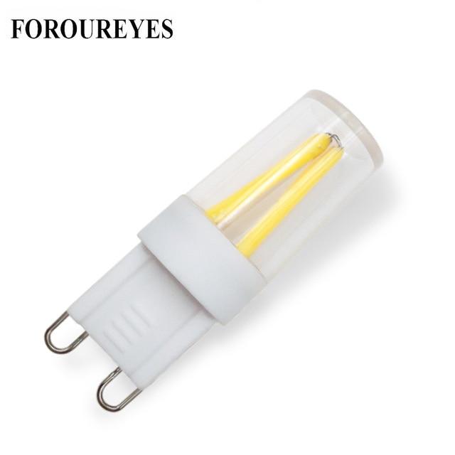 Promotio 10 pçs super brilhante lâmpada led g9 filamento cob 110 v 220 v 1.5 w lâmpada 360 ângulo de feixe substituir 20 w halogênio luz para lustre