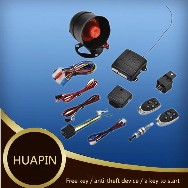 Système d'alarme universel pour voiture à démarrage à distance système de sécurité pour véhicule à sens unique bouton-poussoir sans clé + 2 télécommande cambrioleur