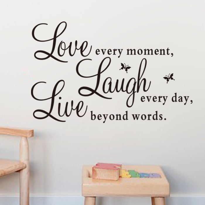 Aliexpresscom Buy Book of Proverbs Live Love Laugh  : Book of Proverbs Live Love Laugh Butterfly DIY Wall Stickers Living Room TV Sofa Background Home from www.aliexpress.com size 700 x 700 jpeg 67kB