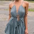 2016 Deep V-neck Women Jumpsuit Rompers Summer  Elegant Solid Colour Short Harness Playsuits Sexy Girls Overalls Plus Size A21