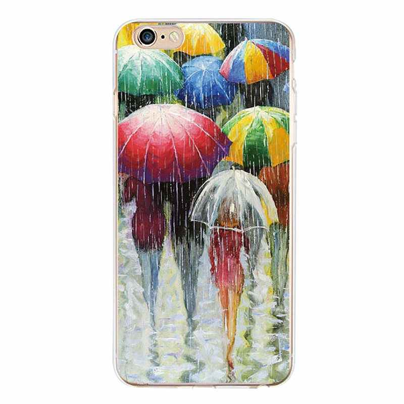 Ballon Soft Clear TPU Telefoon Case Voor iPhone 4/4 s 5 5 s 6 6 plus 7 8 plus Voor iPhone x Mandala Gedrukt Bag Coque Cover Gratis verzending