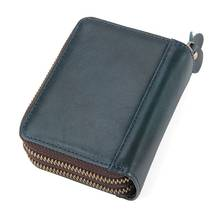 Mini Card Holder Wallets Cow Leather Black MenWomen Travel Money  Wallet Bags Cowhide RFID