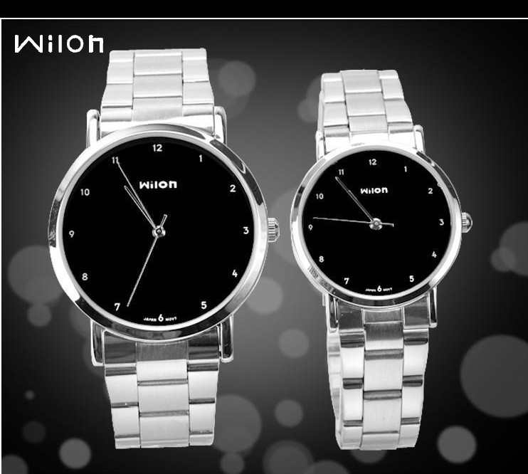 New Original Veyron Wilon 906 Wrist Watch Fashion Lovers Watches Simple Style Steel Strip Quartz Watch Men&women Watches Relogio