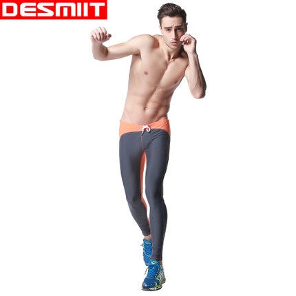 Free shipping!High quality brand Desmiit long swimming pants male compression tight fitness sports pants men beach shorts