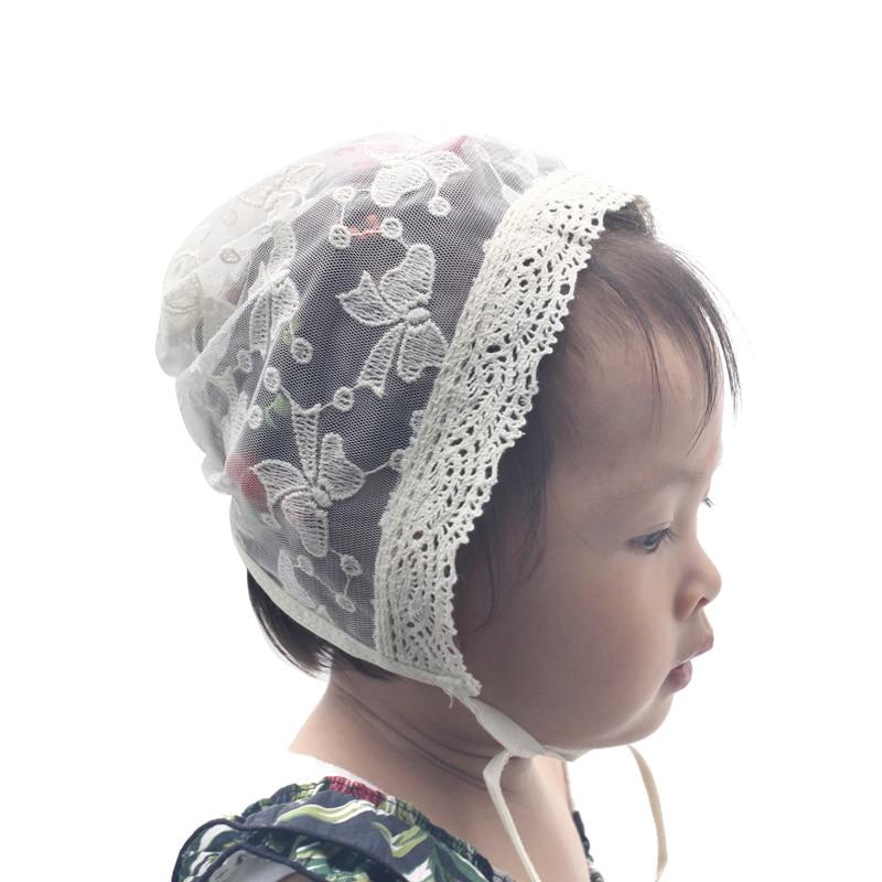Новые хлопковые носки в горошек детская шапка летняя Винтаж младенческой капот Кепки для девочек Регулируемая Детские Кепки для 3-15 месяцев