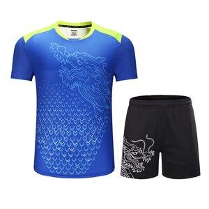 Image 2 - Yeni çin takımı masa tenisi setleri erkekler/kadınlar, ping pong giysileri, masa tenisi formaları, masa tenisi gömlek + şort spor takımları