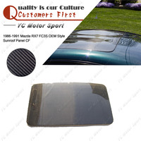Car Accessories Carbon Fiber OEM Style Sunroof Panel Fit For 1986 1991 RX7 FC3S Sun Roof Panel Car styling