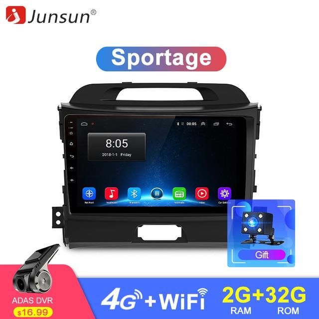 Junsun 2 г + 32 г Android 4G 8,1 автомобиля радио мультимедиа видео плеер навигации gps 2 din для KIA Sportage 3 4 2010-2015 без dvd