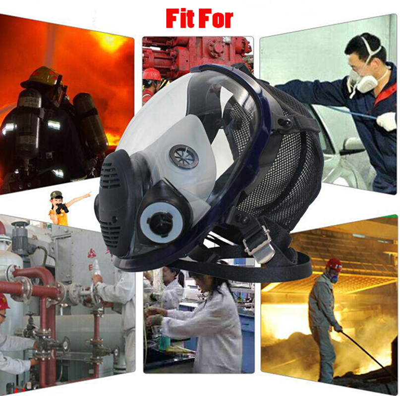 Image 5 - 17 in 1 Suit Painting Spraying Chemcial Respirator Same For 3M 6800 Gas Mask Full Face Facepiece Respirator-in Chemical Respirators from Security & Protection