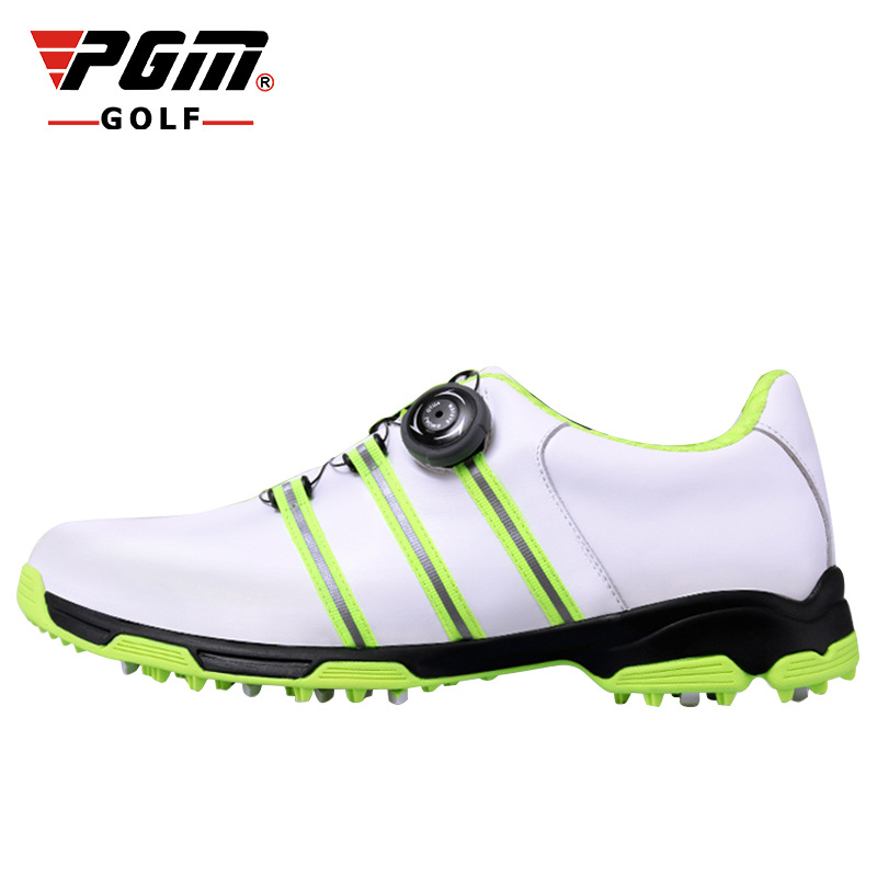 PGM Man's Golf Shoes Genuine Leather Summer Breathable BOA Sneakers Men Anti Slip Golf Shoes Professional Golf Footwear Spikes pgm genuine leather men golf shoes breathable professional sneaker waterproof men golf sport shoes leather athletic golf shoes