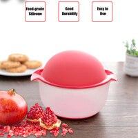 실리콘 석류 필러 기계 홈 주방 과일 도구 가제 석류 필링 그릇 실용적인 주방 액세서리