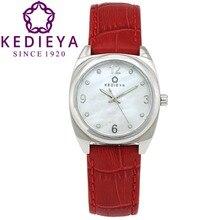 Kedieta бренд женщин часы Miyota quartz 50м водостойкий мода кожаный часы для женщины наручные часы лучшие подарки