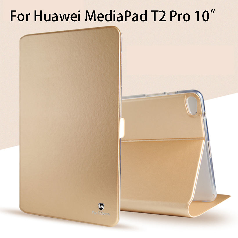 Luxury Silicone PU Leather Case For Huawei MediaPad T2 10.0 Pro FDR-A01W FDR-A03L Case Cover Funda Tablet Slim Flip Shell Skin new fashion pattern ultra slim lightweight luxury folio stand leather case cover for huawei mediapad t2 pro 10 0 fdr a01w a03l page 2