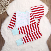 Christmas Gift Newborn Infant Baby Boy Girl Top And Pants Hat Outfit Set Clothes