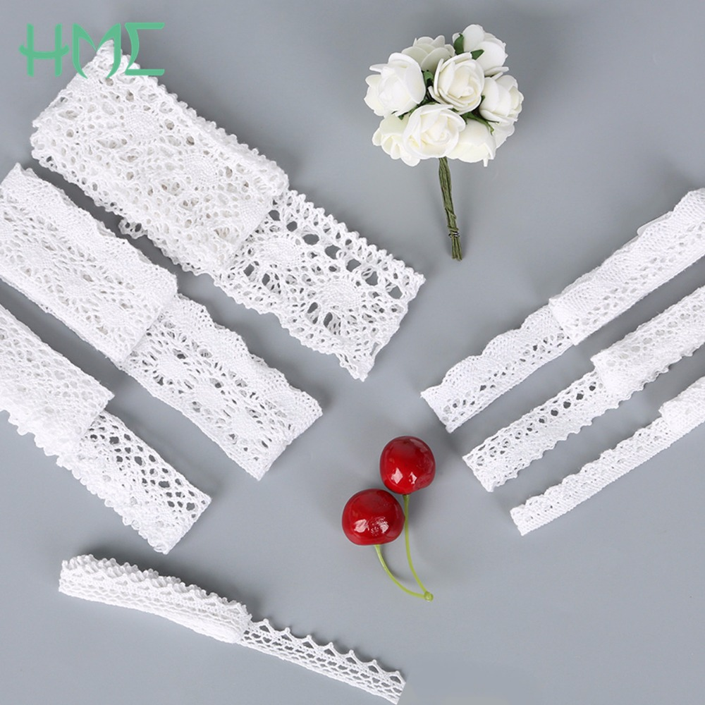 New Crochet Knitting Cotton Lace Trim Fabric Ribbon For DIY Apparel Sewing Handmade Patchwork Scrapbooking Craft Accessories