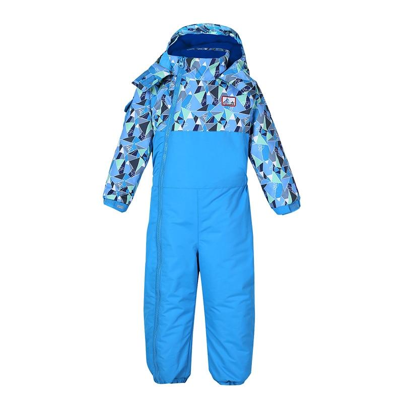 2018 Baby Boy Girl Ski Suit jumpsuit children Waterproof Windproof Ski Snowboard Children Jumpsuit Kid Hooded One-piece Children