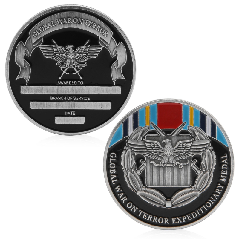 Global Anti-Terrorist Expeditionary Medal Commemorative Coins War On Terror Expeditionary Medal Commemorative Coin Collection