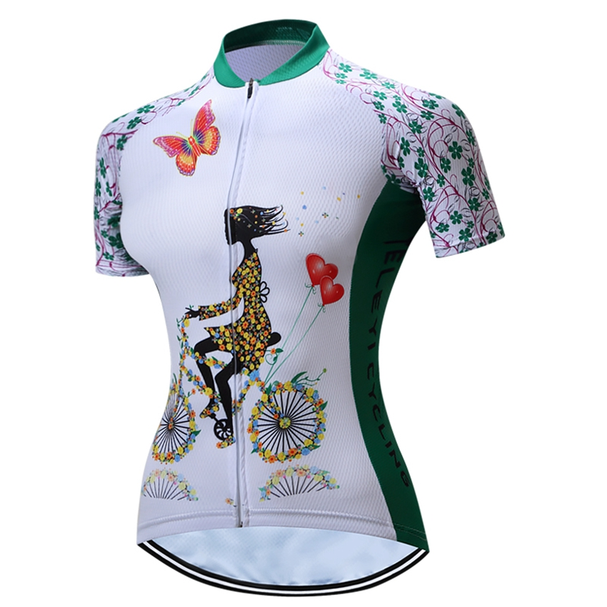 Prix pour TELEYI Femmes Vélo Cyclisme Jersey/Vtt Vêtements de Cyclisme Top Maillot Roupa Ciclismo Vélo En Plein Air Respirable de Sport