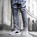 2017 Kanye West Zipped Ankel Jogger Allover Marble Pattern Mens Hiphop Drop Crotch Pants Free Shipping
