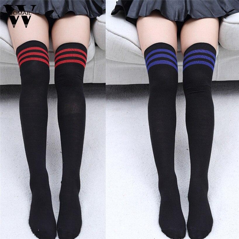 Womail 1 Pair Fashion Thigh High Over Knee High Socks Girls Womens New jan19/302