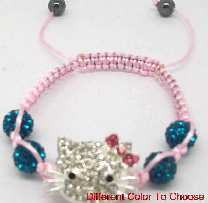 10mm wholesale hot mixed best hot AB clay Crystal crystal Bracelet best good Bangles hotsale fashion lot