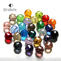 AAA3 100Pcs/Lot 10MM Ball Faceted Glass Crystal Spacer Beads For Jewelry Making 30Colors Available Factory Selling Wholesale