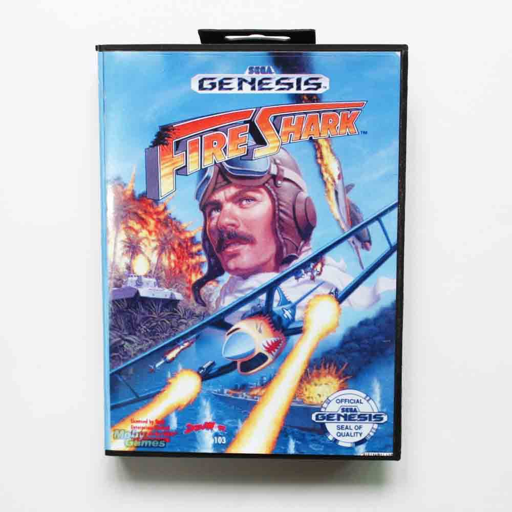 Fire Shark Game Cartridge 16 bit MD Game Card With Retail Box For Sega Mega Drive
