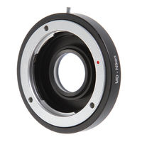 Fotga Adapter Ring with Glass for Minolta MD/MC Mount Lens to Nikon F AI D810A D7200 D7100 D7000 D3000 Camera