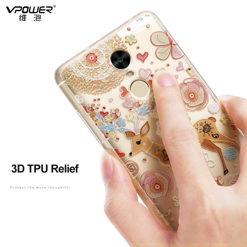 Xiaomi Redmi Note 4 üçün örtük Vpower Silikon 3D Relief Print - Cib telefonu aksesuarları və hissələri - Fotoqrafiya 2