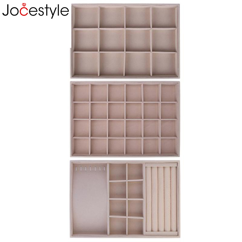Fleece Jewelry Box Plate Jewelry Display Earring Holder Ring Necklace Display Tray Stand Organizer Box Case Watch DisplayFleece Jewelry Box Plate Jewelry Display Earring Holder Ring Necklace Display Tray Stand Organizer Box Case Watch Display