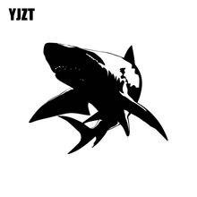 Yjzt 16.8cm * 13.5cm grande tubarão branco individualizado vinil adesivo do carro decalque preto prata acessórios C11-0294