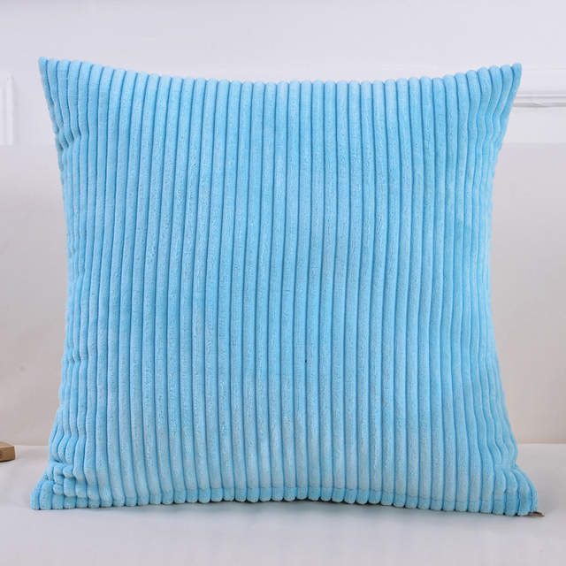 Solid Color Sofa Cushion Covers Decorative Pillows Blue Green Yellow Gray  White Striped Corduroy Throw Pillow Covers Pillowcases