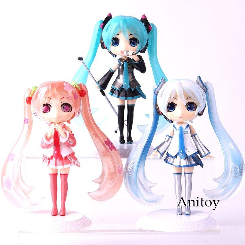 QPosket Sakura Miku Hatsune Miku Snow Q Posket Figure Action PVC Collectible Model Toy Doll