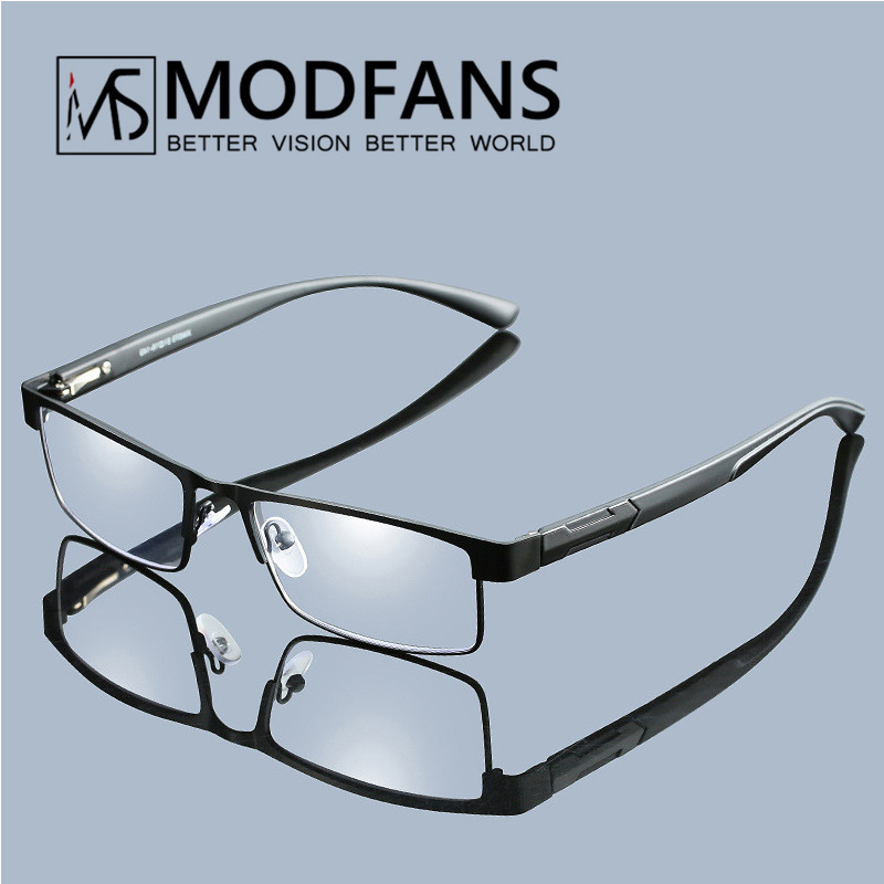 Men Titanium Alloy Reading Glasses Mens Non Spherical Lenses Retro Business Designer Hyperopia Prescription Eyeglasses Male